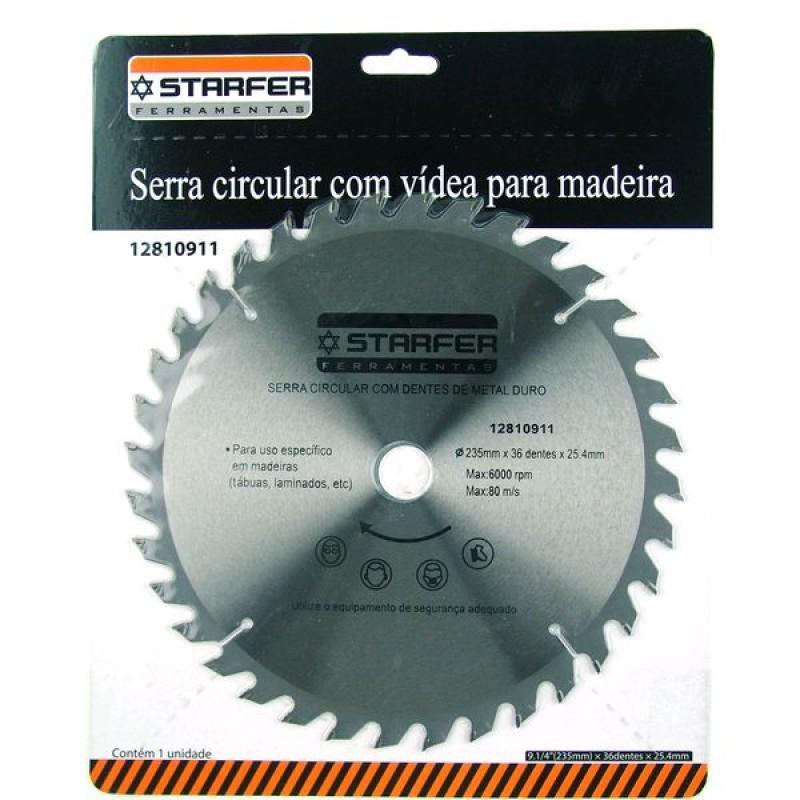 SERRA CIRCULAR VIDEA 9.1/4 F.25.4MM 36 DT (STARFER)
