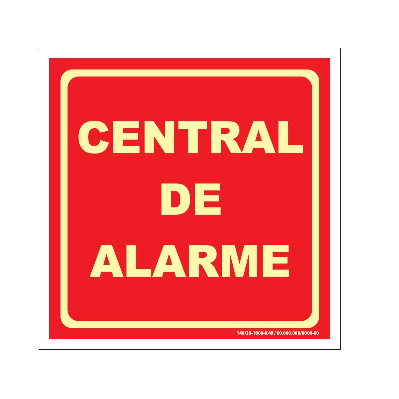 PLACA FOTOLU. AUTO EXTINGUÍVEL CENTRAL DE ALARME 19,5 X 19,5 (DESTAK)