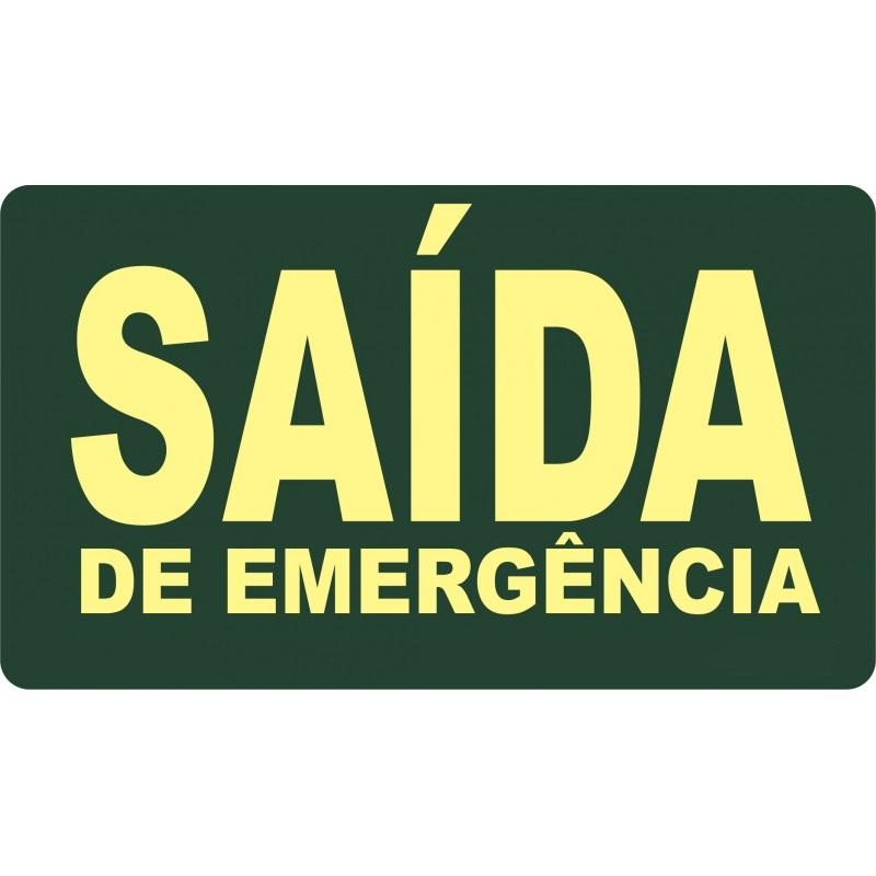 PLACA FOTOLU. AUTO EXTINGUÍVEL P/ÁREA EXTERNA SAÍDA EMERG. S/SETA (DESTAK)