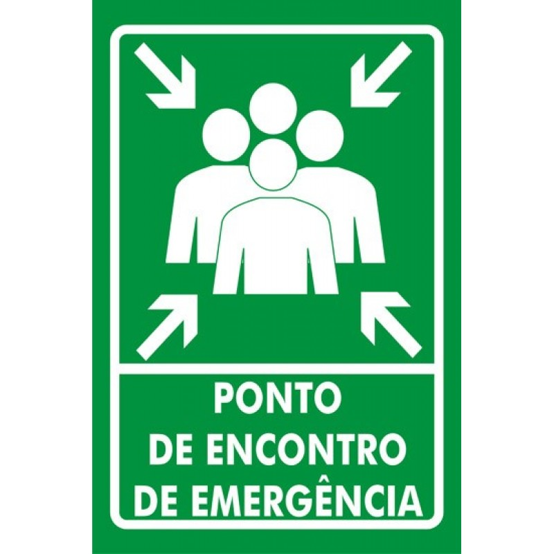 PLACA FOTOLU. AUTO EXTINGUÍVEL INDICAÇÃO PONTO DE ENCONTRO 19,5 X 19,5 (DESTAK)