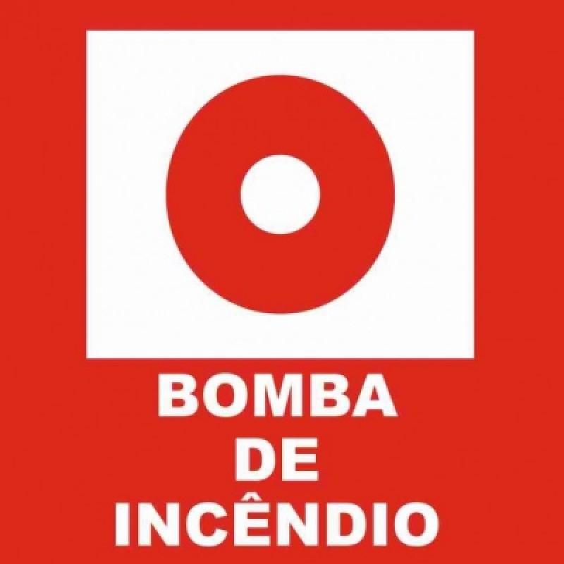 PLACA FOTOLU. AUTO EXTINGUÍVEL BOMBA DE INCÊNDIO 19,5 X 19,5 (DESTAK)